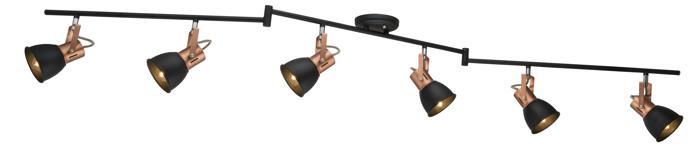 Настенно-потолочный светильник Arte Lamp A1677PL-6BK, E14, 40 Вт