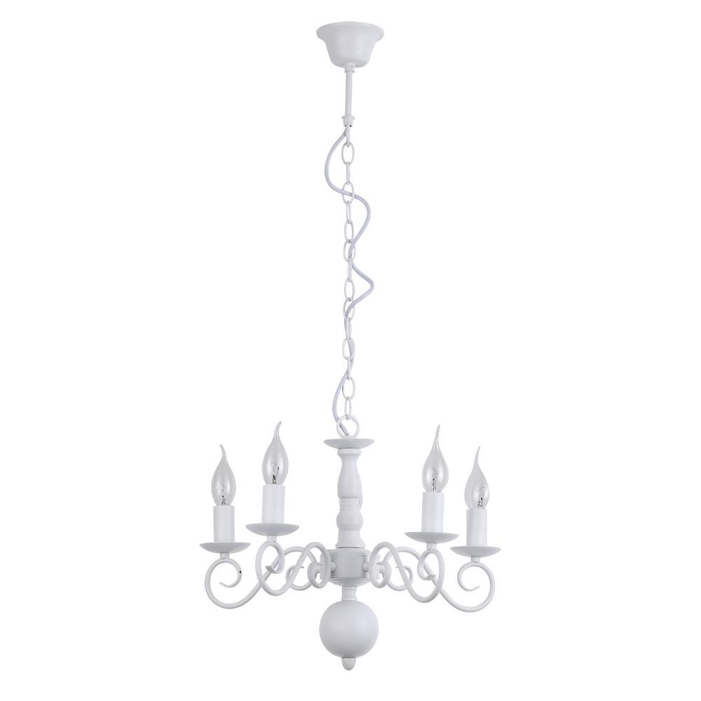 Подвесной светильник Arte Lamp A1129LM-5WH, белыйA1129LM-5WHПодвесной светильник Arte Lamp A1129LM-5WH серии Isabel в современном стиле будет хорошим решением для квартиры. Размеры (ДхШхВ) 420х420х340 мм.