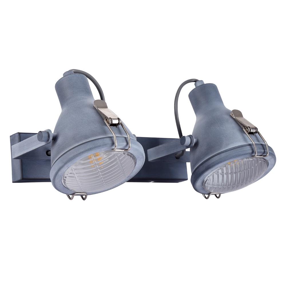 цена Настенно-потолочный светильник Arte Lamp A9178AP-2GY, серый в интернет-магазинах