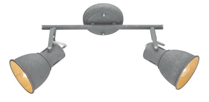 Настенно-потолочный светильник Arte Lamp A1677PL-2GY, E14, 40 Вт