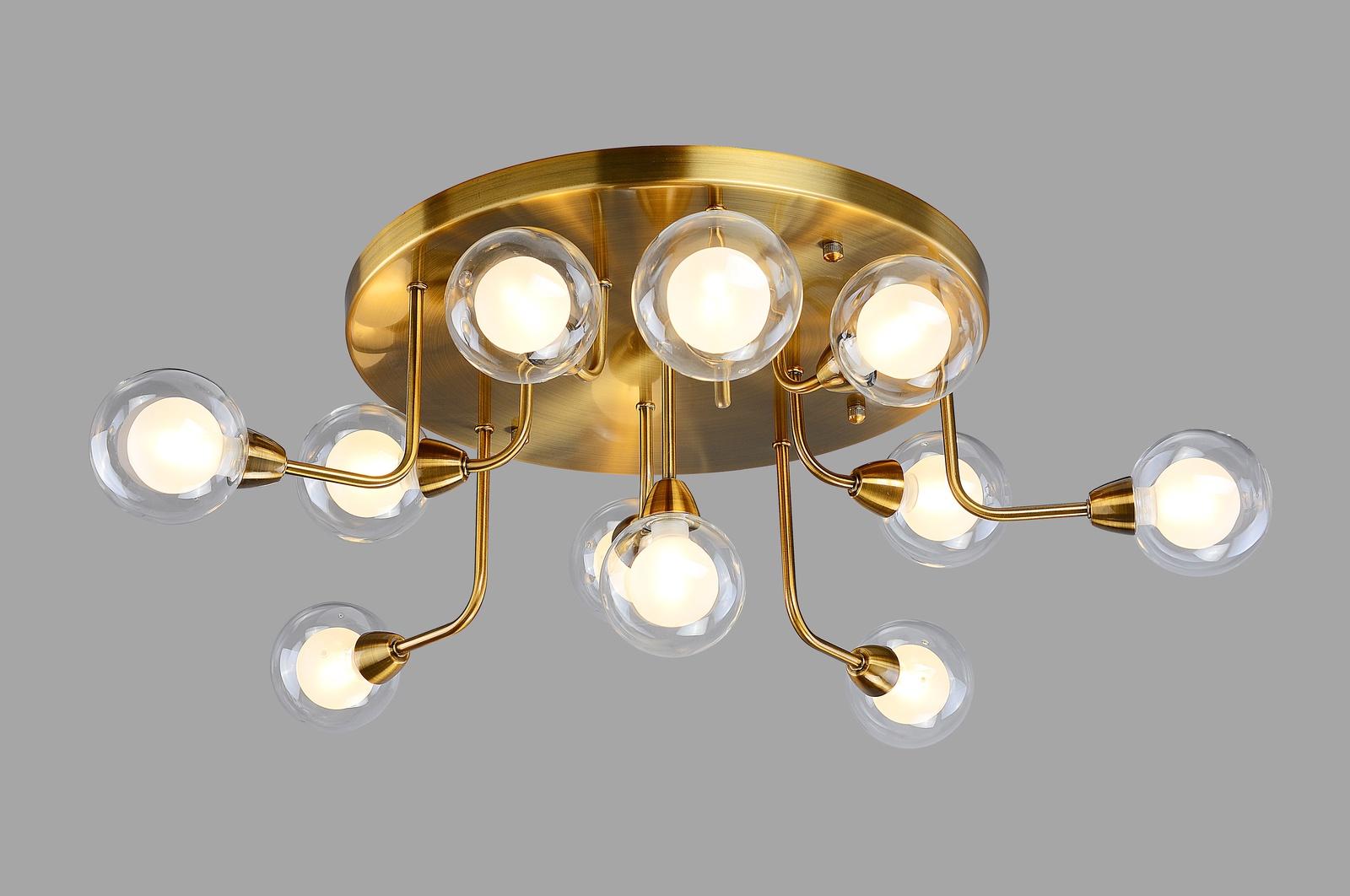 Потолочный светильник Divinare 3360/15 PL-11, золотой divinare светильник потолочный