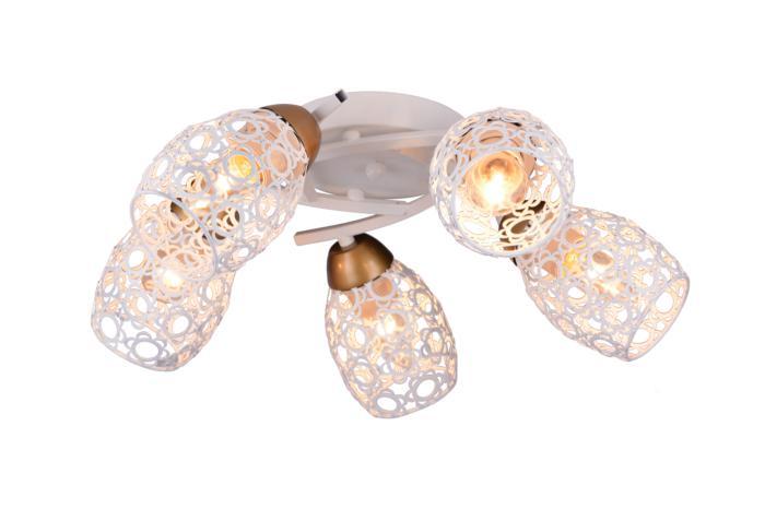 Потолочный светильник Toplight TL3810X-05WH, белый потолочная люстра toplight mavis tl3810x 03wh