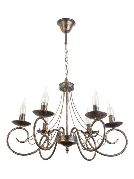 Подвесной светильник Toplight TL6010D-06, черный подвесная люстра dalila tl6010d 03