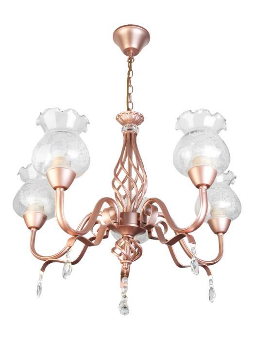 Подвесной светильник Toplight TL5680D-05PG, золотой подвесная люстра toplight kelli tl5680d 07pg