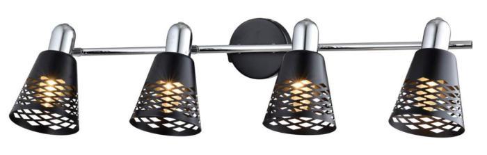 Настенно-потолочный светильник Toplight TL3760Y-04BC, серый металлик спот toplight susan tl3760y 04bc