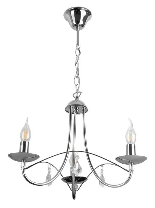 Подвесной светильник Toplight TL6020D-03CH, серый металлик люстра toplight lily tl6020d 03ch