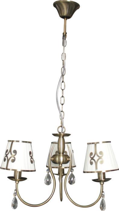 Подвесной светильник Toplight TL7500D-03AB, бронза подвесная люстра toplight dorris tl7500d 05ab