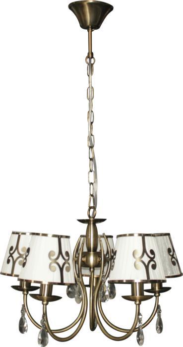 Подвесной светильник Toplight TL7500D-05AB, бронза подвесная люстра toplight dorris tl7500d 05ab