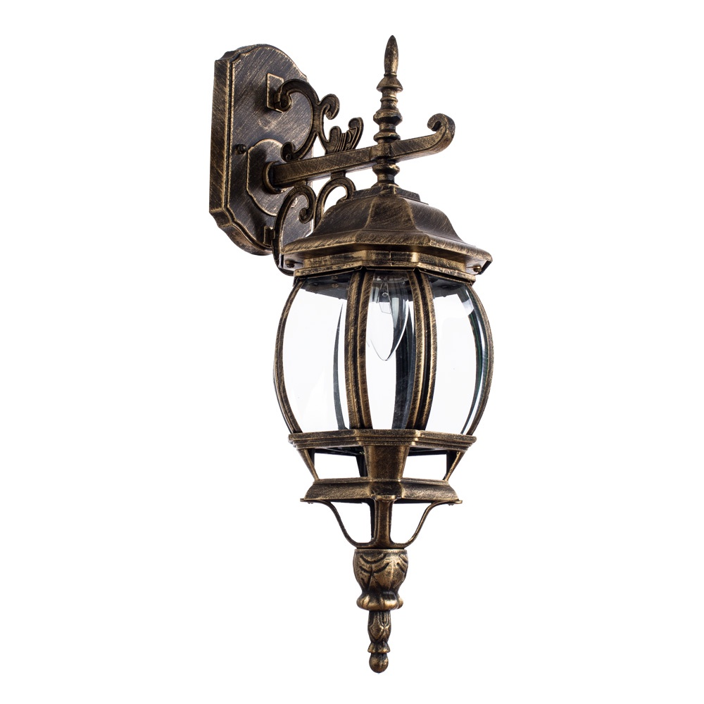 Уличный светильник Arte Lamp A1042AL-1BN, золотой уличный подвесной светильник arte lamp genova a1205so 1bn