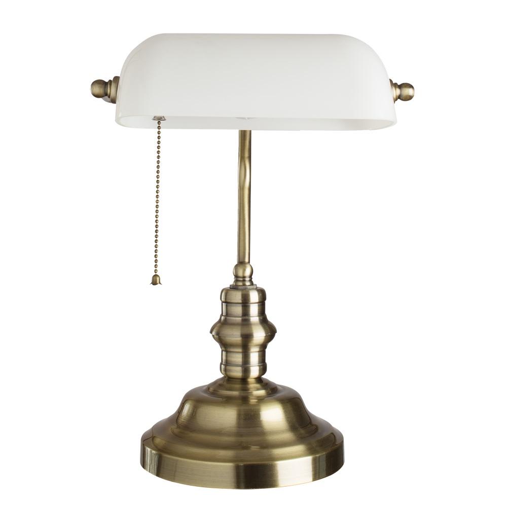 Настольный светильник Arte Lamp A2493LT-1AB, бронза настольная лампа офисная arte lamp banker a2493lt 1ab