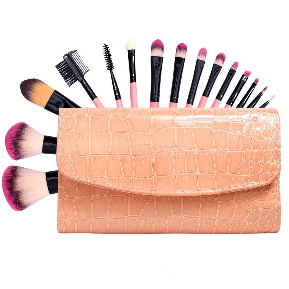 Косметическая кисть подарочный профессиональный набор 15 кистей для макияжа в сумочке Parmilla