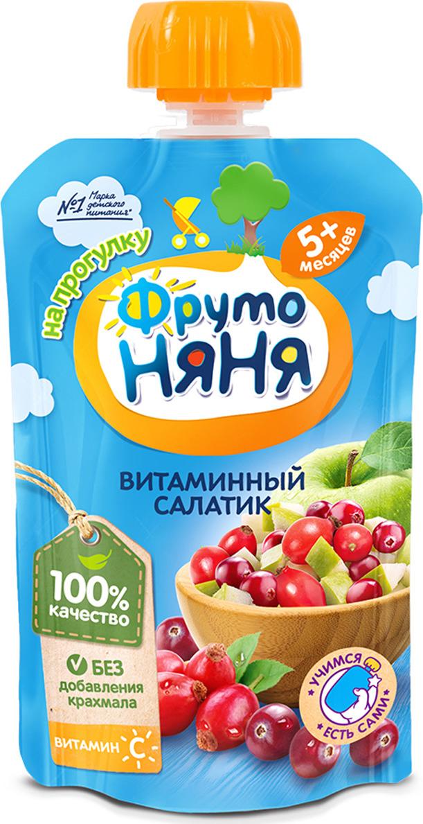 ФрутоНяня пюре витаминный салатик с шиповником с 6 месяцев, 90 г