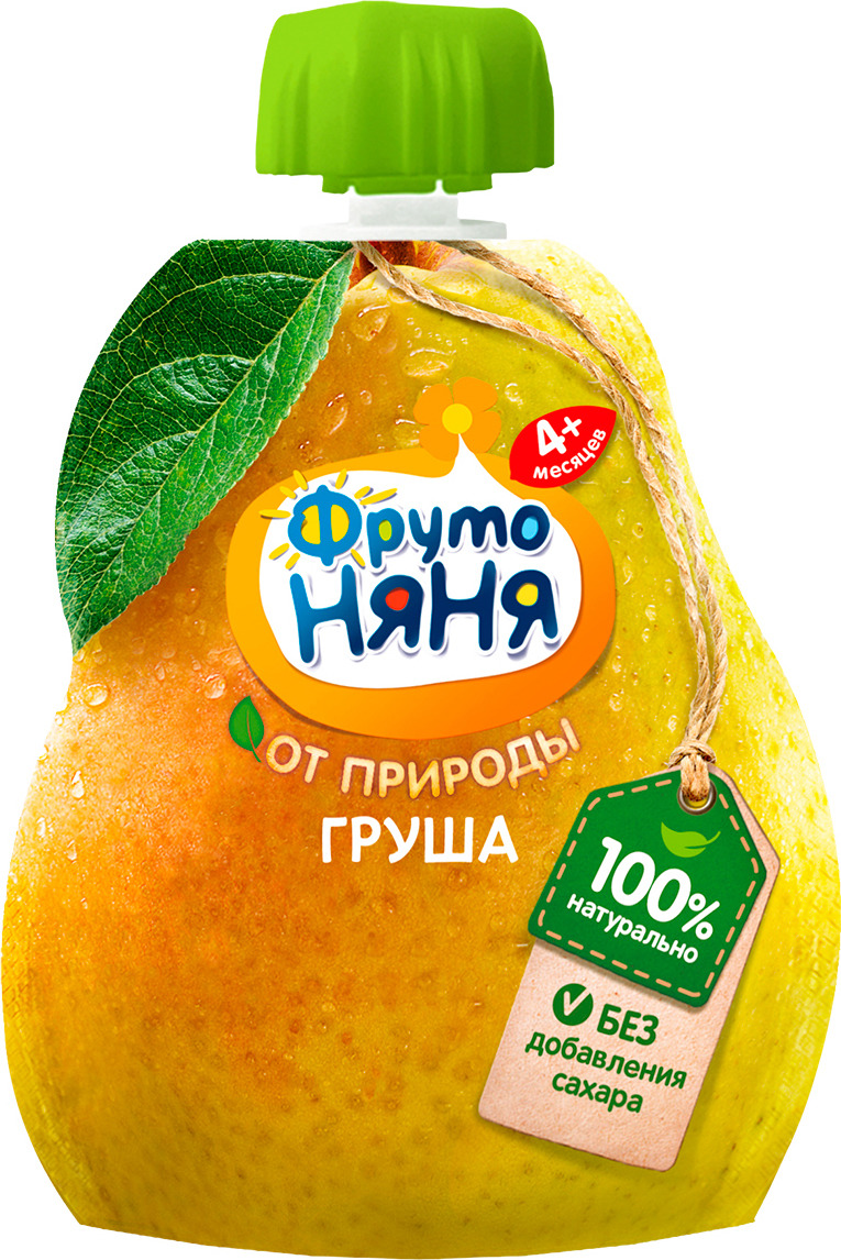 ФрутоНяня пюре из груш с 4 месяцев, 90 г