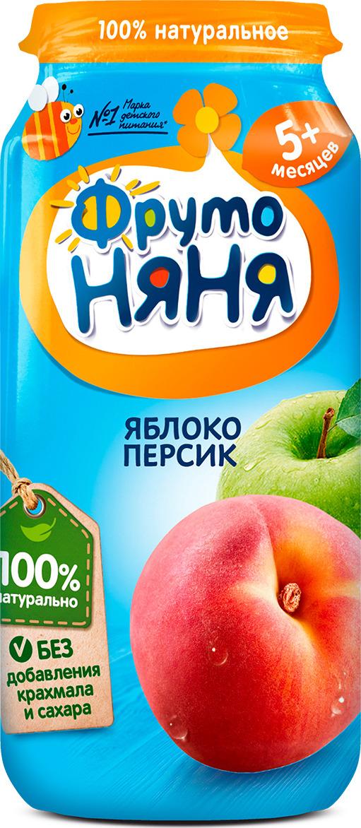 ФрутоНяня пюре из яблок и персиков с 5 месяцев, 250 г фрутоняня пюре из яблок и персиков с 5 месяцев 250 г