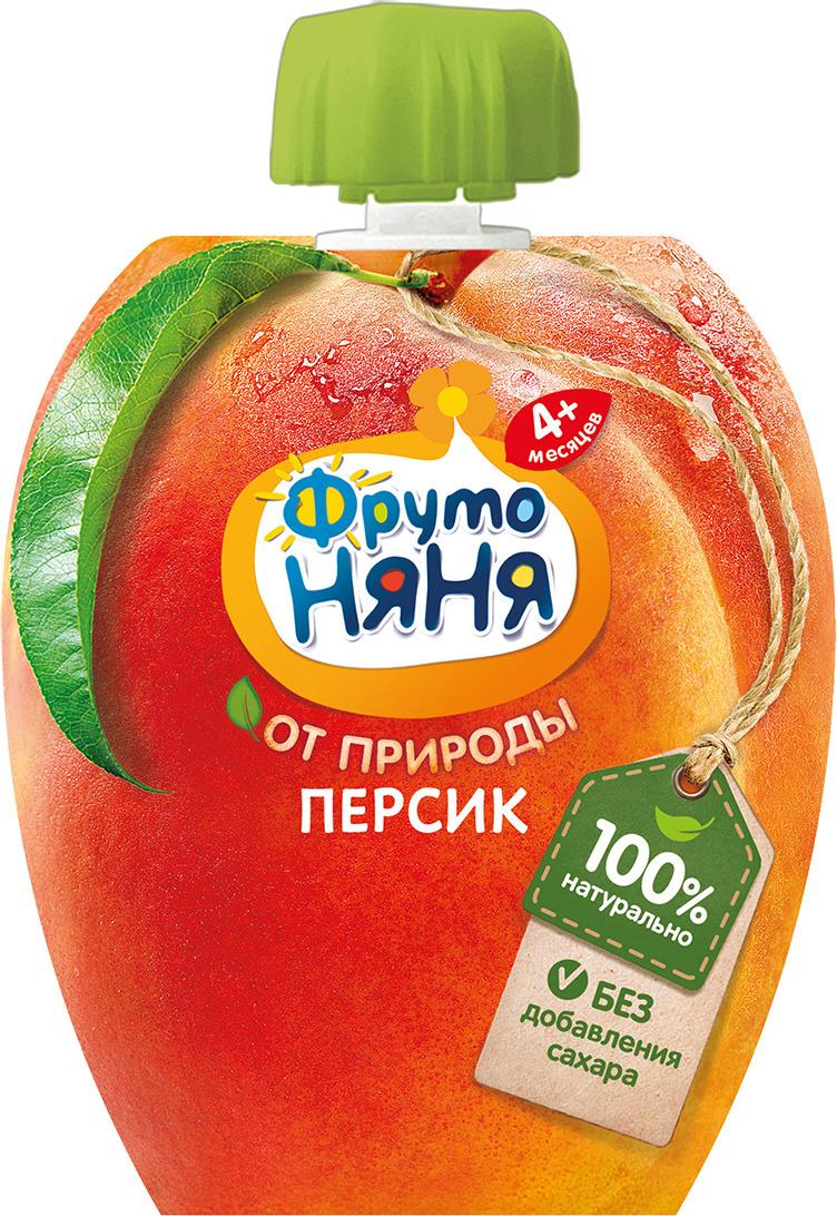 Пюре ФрутоНяня персиковое, натуральное, 90 г