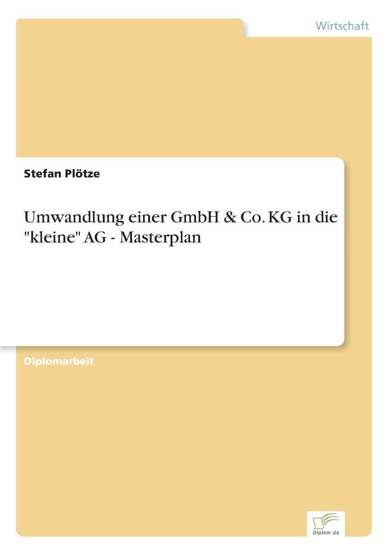Stefan Plötze Umwandlung einer GmbH . Co. KG in die kleine AG - Masterplan george sand die grille oder die kleine fadette