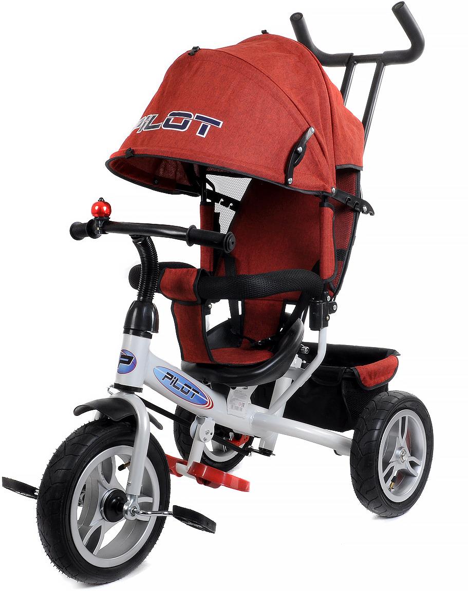 Детский велосипед Pilot трехколесный, PTA3DR, бордовый