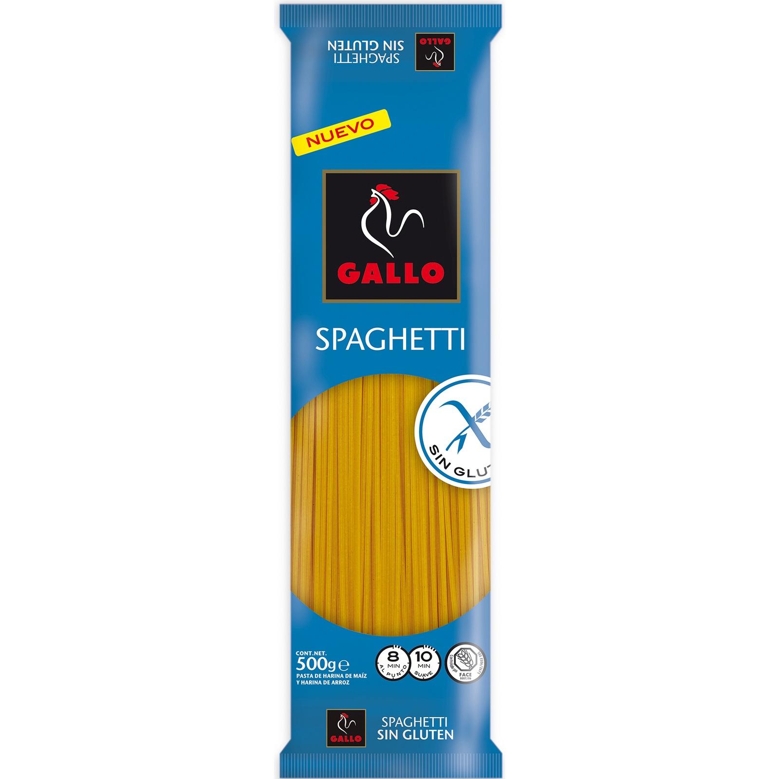 Спагетти без глютена Gallo (Испания) из рисовой и кукурузной муки 500г albert fauvel faune gallo rhenane