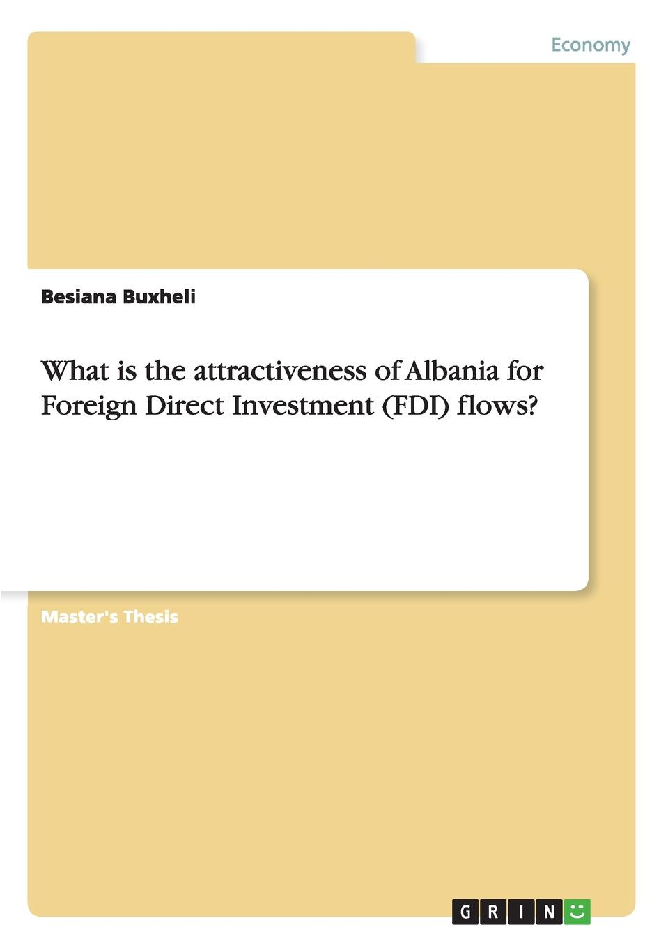 Besiana Buxheli What is the attractiveness of Albania for Foreign Direct Investment (FDI) flows.
