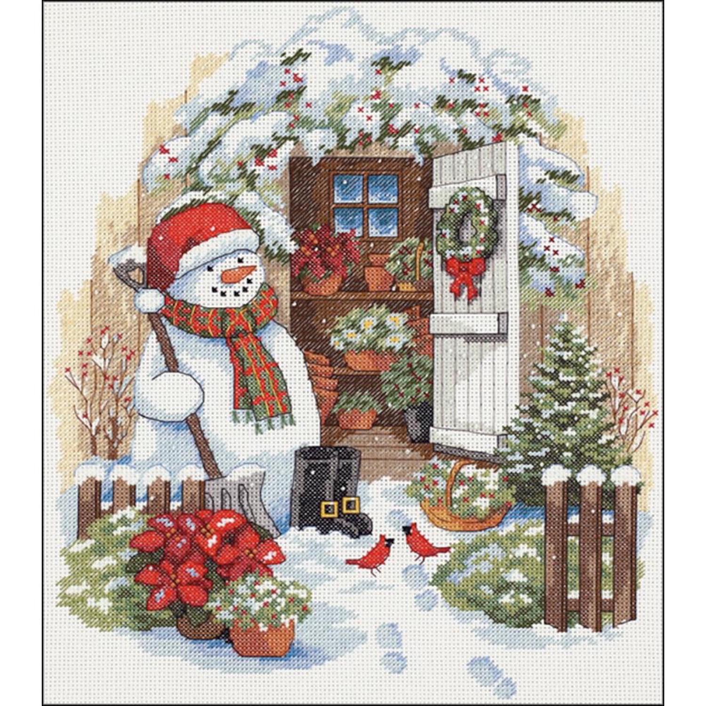 Набор для вышивания Dimensions Garden Shed Snowman цены онлайн