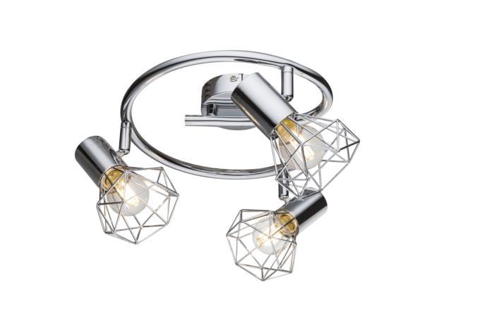Настенно-потолочный светильник Globo New 54802-3, серый металлик globo спот xara i 54802 2