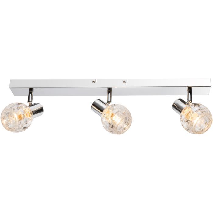 Настенно-потолочный светильник Globo New 541007-3, серый металлик спот globo keith i 541007 4