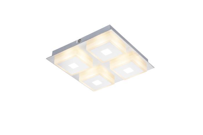 Потолочный светильник Globo New 41111-4, серый металлик цена
