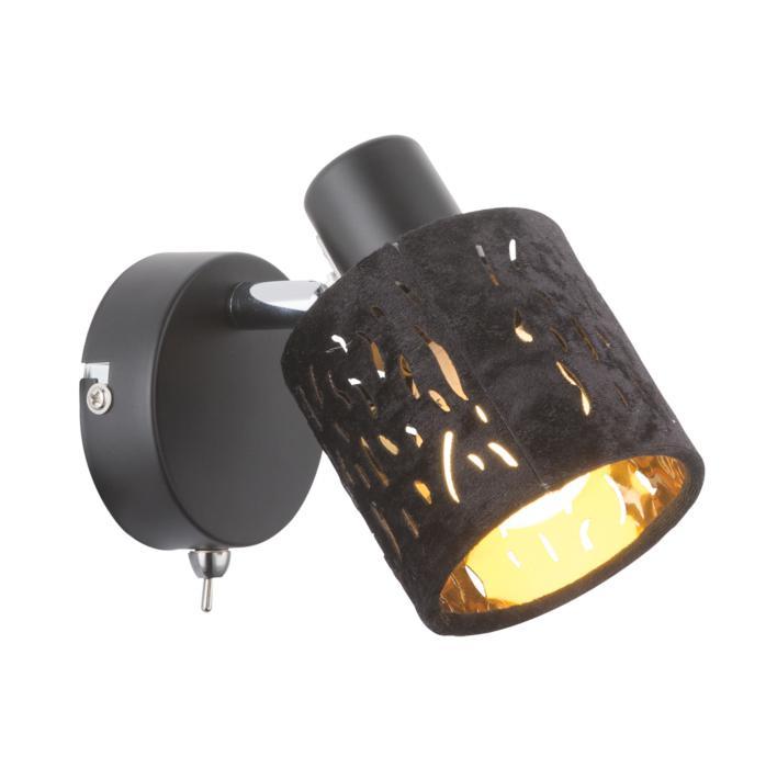 Настенно-потолочный светильник Globo New 54121-1, черный бра globo troy 54121 2