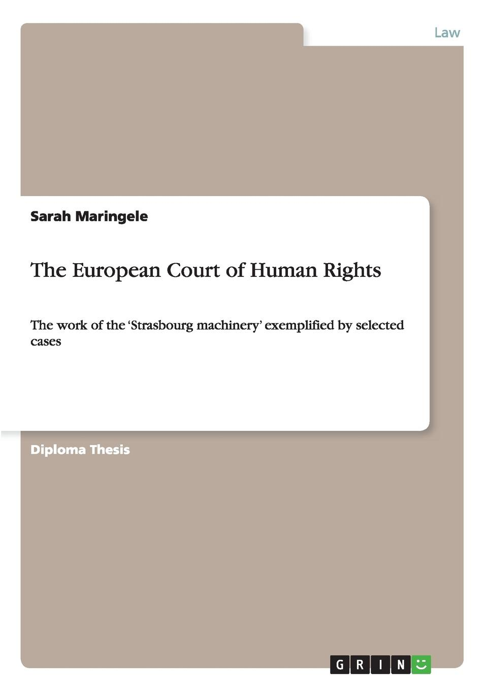 цены на Sarah Maringele The European Court of Human Rights  в интернет-магазинах
