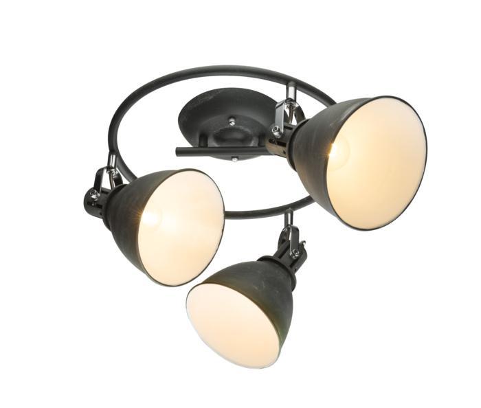 Настенно-потолочный светильник Globo New 54646-3, серый потолочный светильник globo new 0332 серый металлик