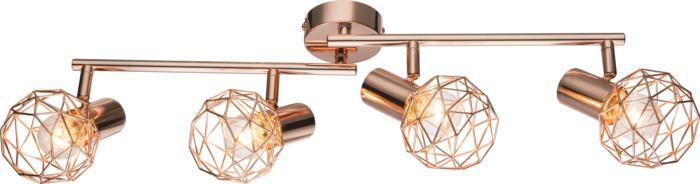 Настенно-потолочный светильник Globo New 54805-4, медь globo 54805 4