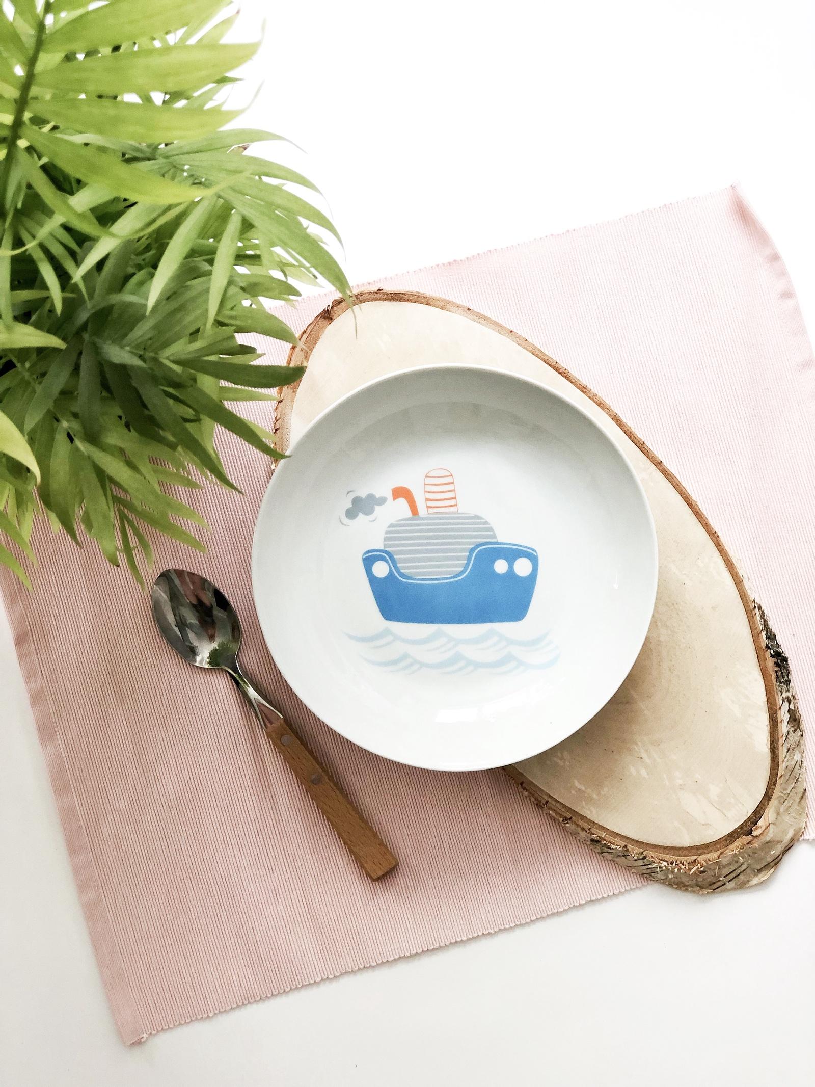 Тарелка глубокая Сотвори Чудо Кораблик Sans Brides 20 см, белый тарелка мелкая сотвори чудо бананы диаметр 20 см
