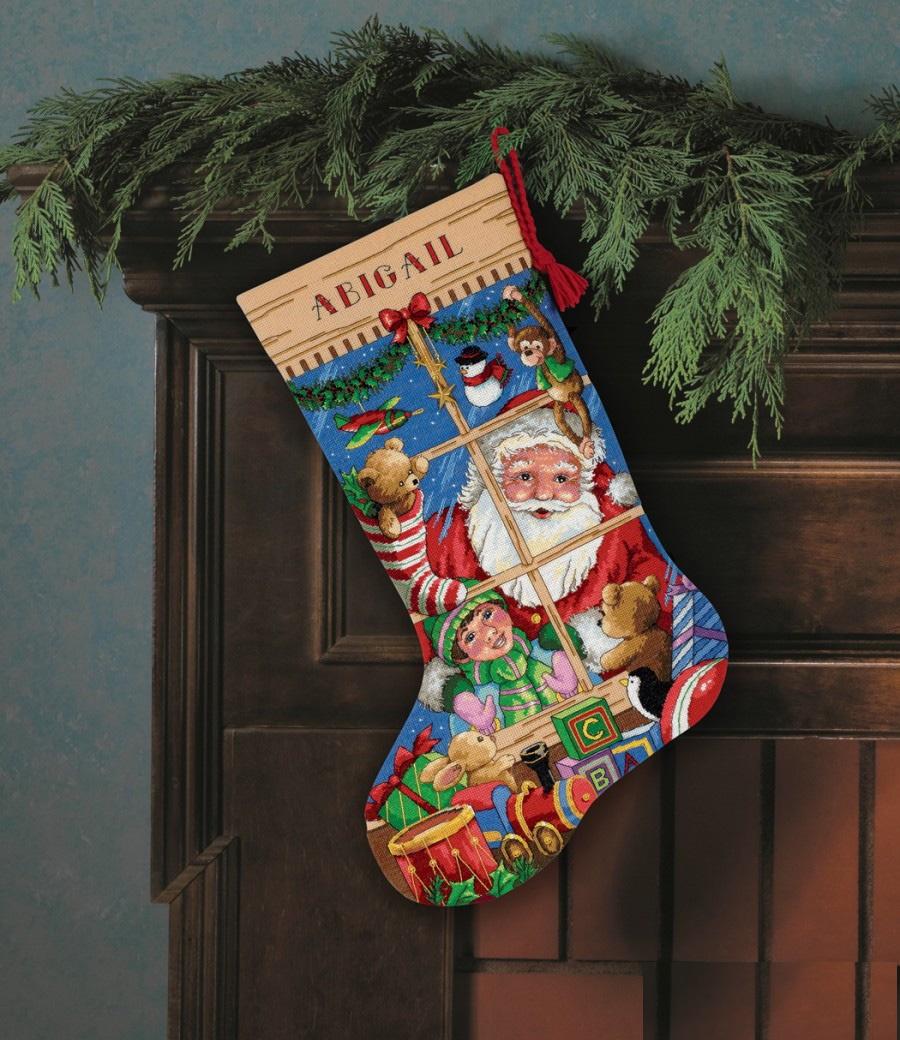 Набор для вышивания Dimensions Santa-s Toy Stocking цены онлайн
