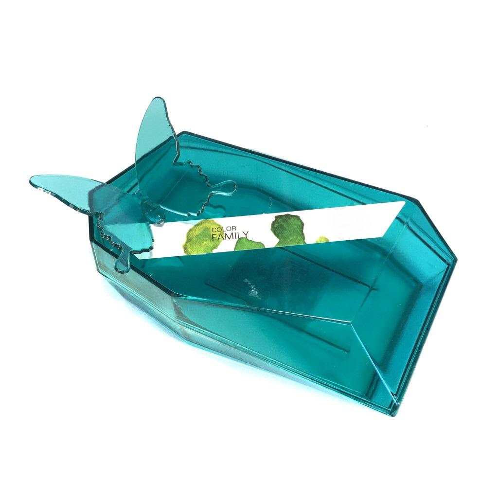 Мыльница Migliores пластиковая, бирюзовый