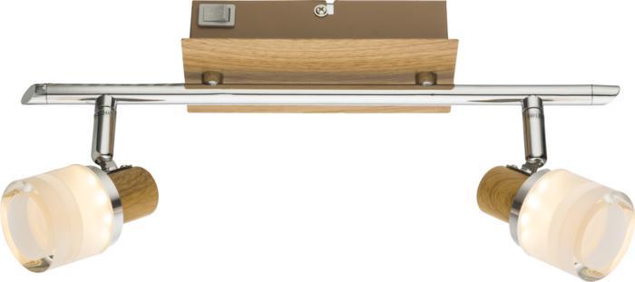 Настенно-потолочный светильник Globo New 56000-2, серый металлик спот globo alonis gb 56000 2