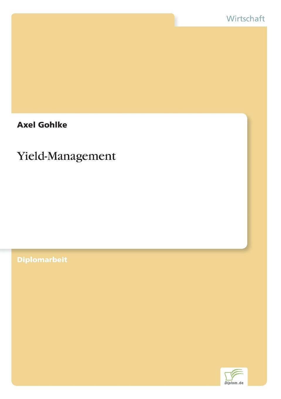 Axel Gohlke Yield-Management недорого