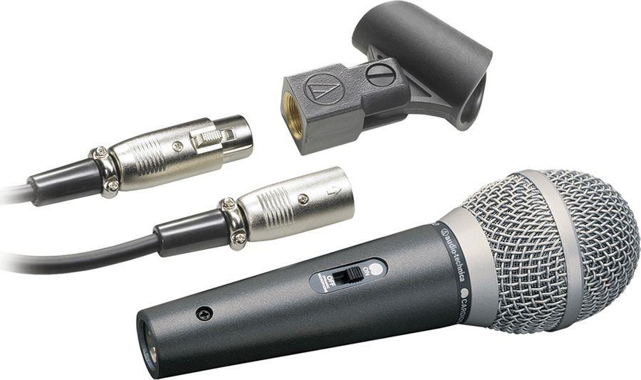 Микрофон Audio-Technica ATR1500, черный динамический микрофон philips sbcmd150