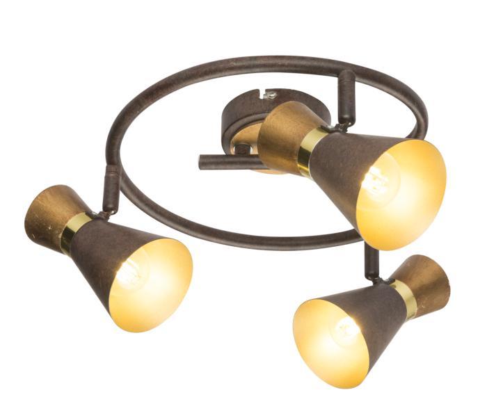 Настенно-потолочный светильник Globo New 54808-3, золотой светильник спот globo virunga 541012 3