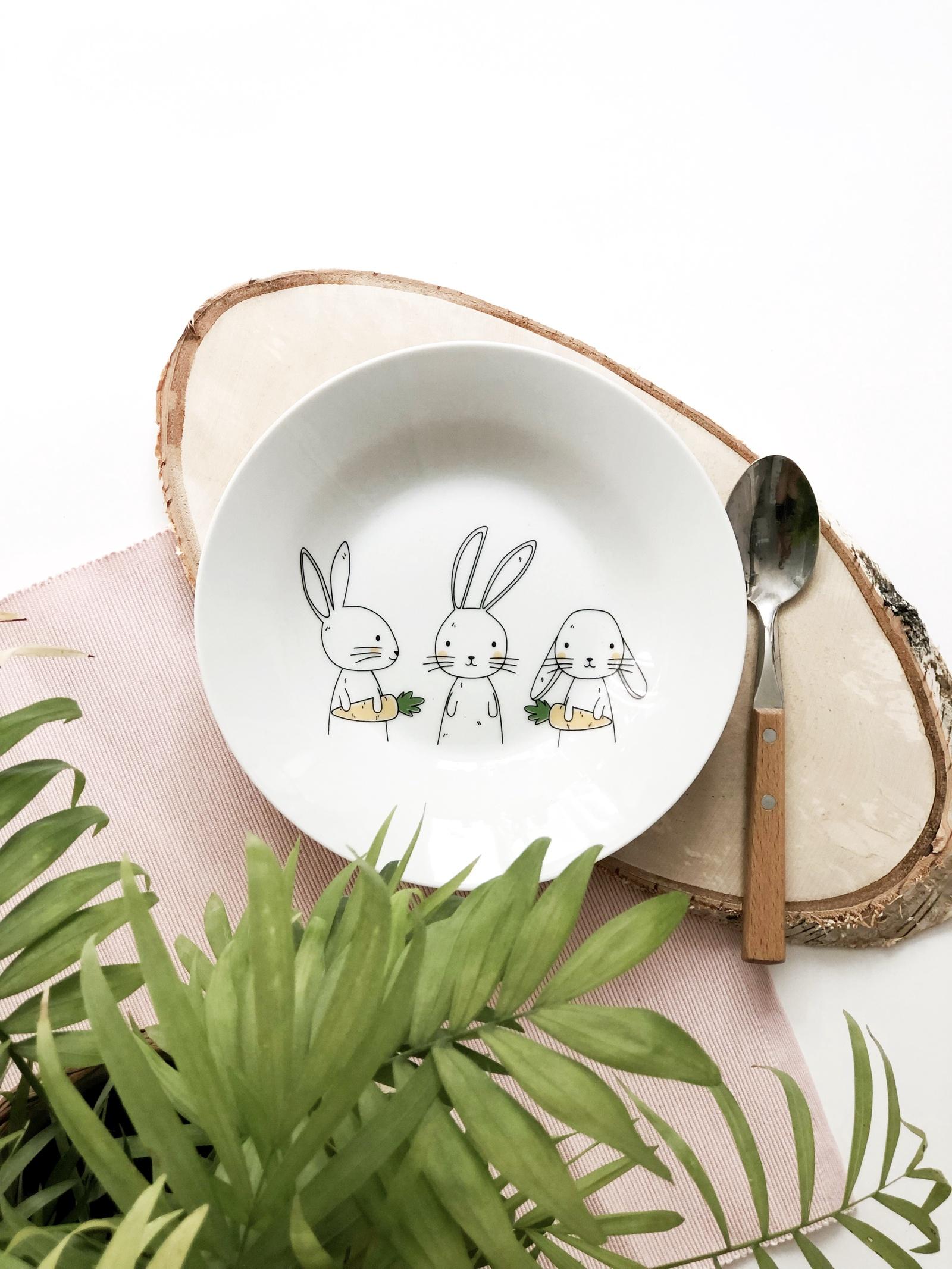 Тарелка глубокая Сотвори Чудо Bunny 20 см, белый тарелка мелкая сотвори чудо бантик sans brides диаметр 20 см