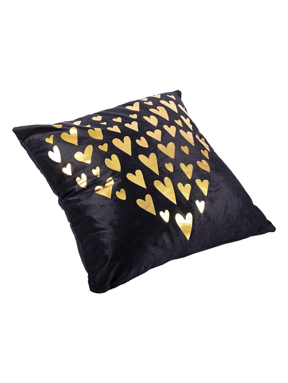 Наволочка декоративная Русские Подарки, 76313, черный, золотой, 45 х  см