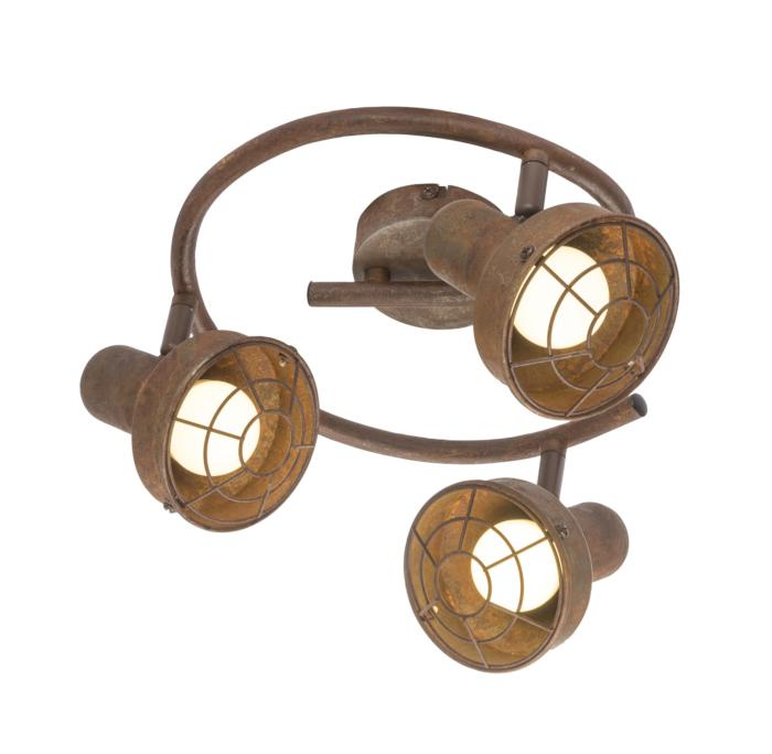 Настенно-потолочный светильник Globo New 54810-3, коричневый светильник спот globo virunga 541012 3