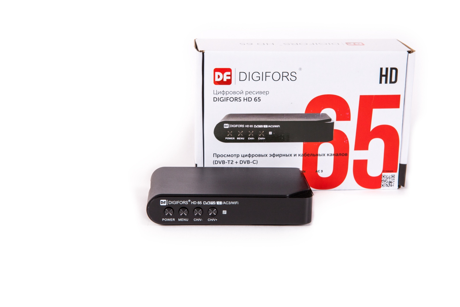 Цифровой эфирный DVB-T2/DVB-C ресивер с мультимедиа DIGIFORS HD 65