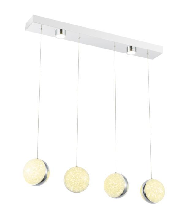 Подвесной светильник Globo New 56007-4H, LED, 104 Вт подвесной светильник globo new 49350d1 led 28 вт