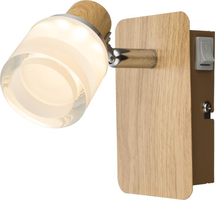 Настенно-потолочный светильник Globo New 56000-1, коричневый спот globo alonis gb 56000 2