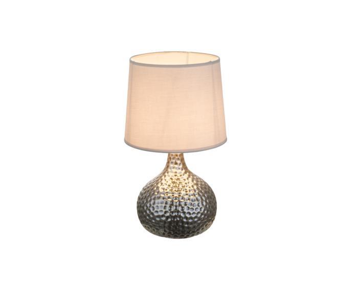 Настольный светильник Globo New 21655, серый металлик потолочный светильник globo new 0332 серый металлик