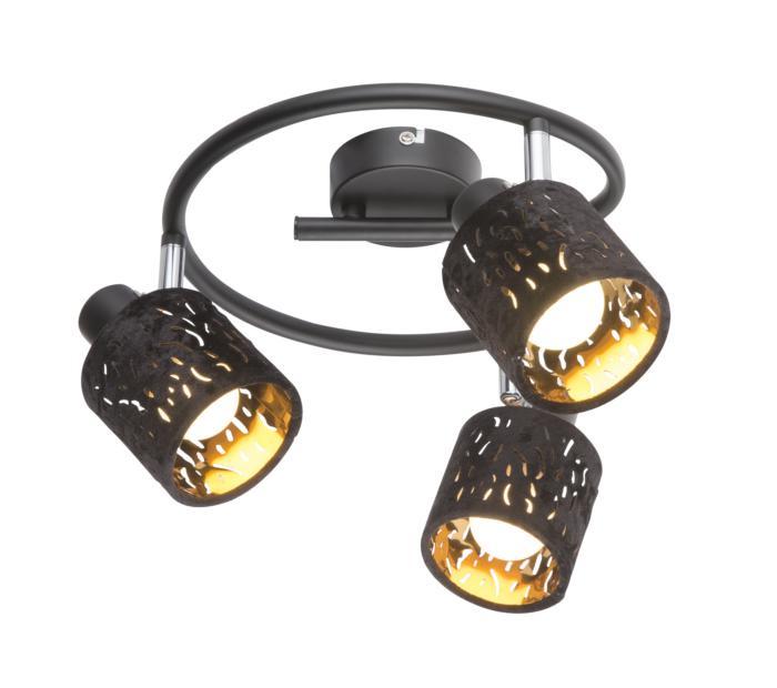Настенно-потолочный светильник Globo New 54121-3, черный бра globo troy 54121 2