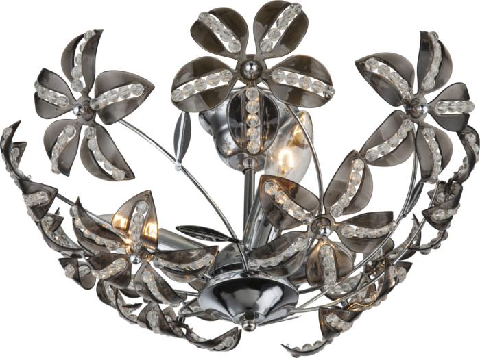 Потолочный светильник Globo New 51421-3, серый металлик бра globo kaunos 51422w