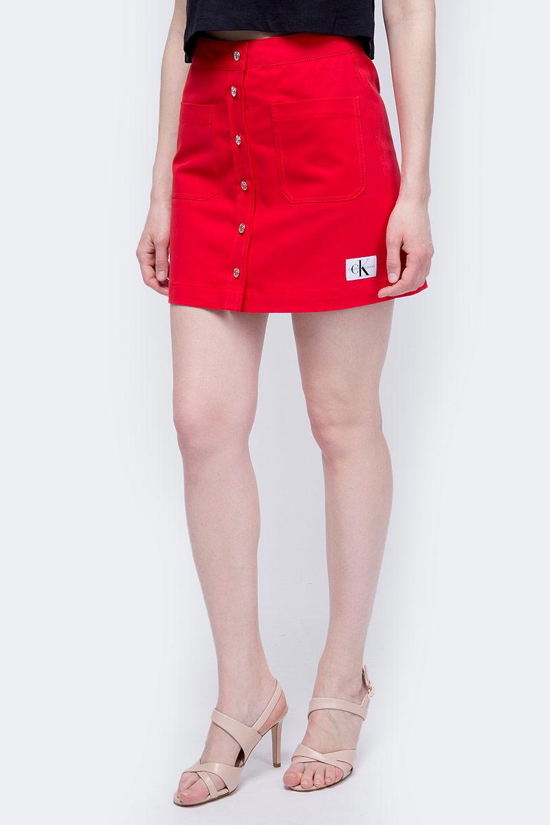 Фото - Юбка Calvin Klein Jeans юбка женская calvin klein jeans цвет белый голубой j20j207792 1120 размер l 46 48