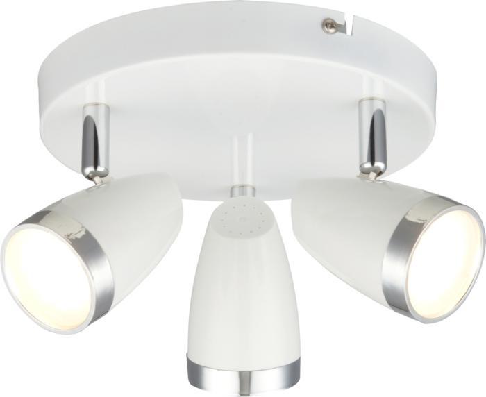 Настенно-потолочный светильник Globo New 56109-3, серый металлик все цены