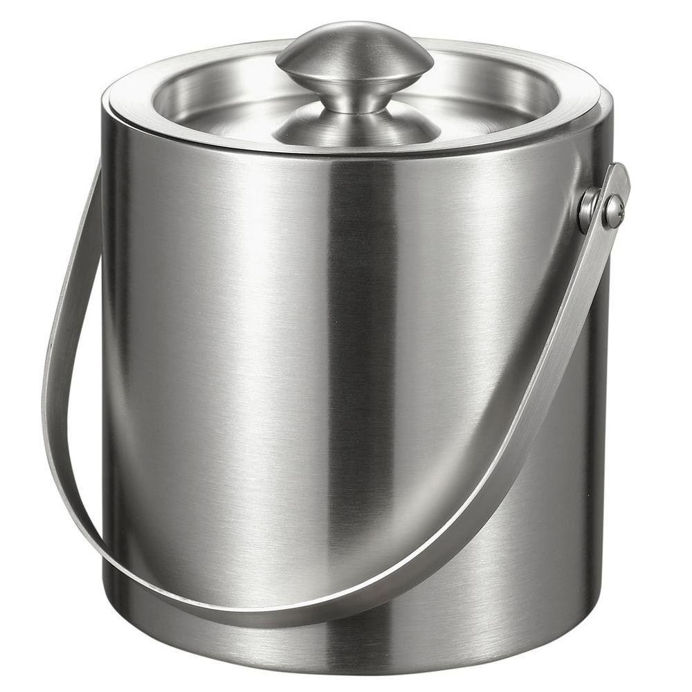 Ведерко для льда Metall, серебристый ведерко для льда i v v 314 142